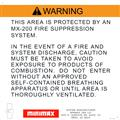 Clean Agent System Warning Signs